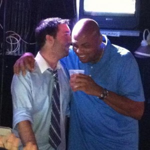 Yes, that's Charles Barkley. Ask Collin about the Barkley - Boyz 2 Men story.